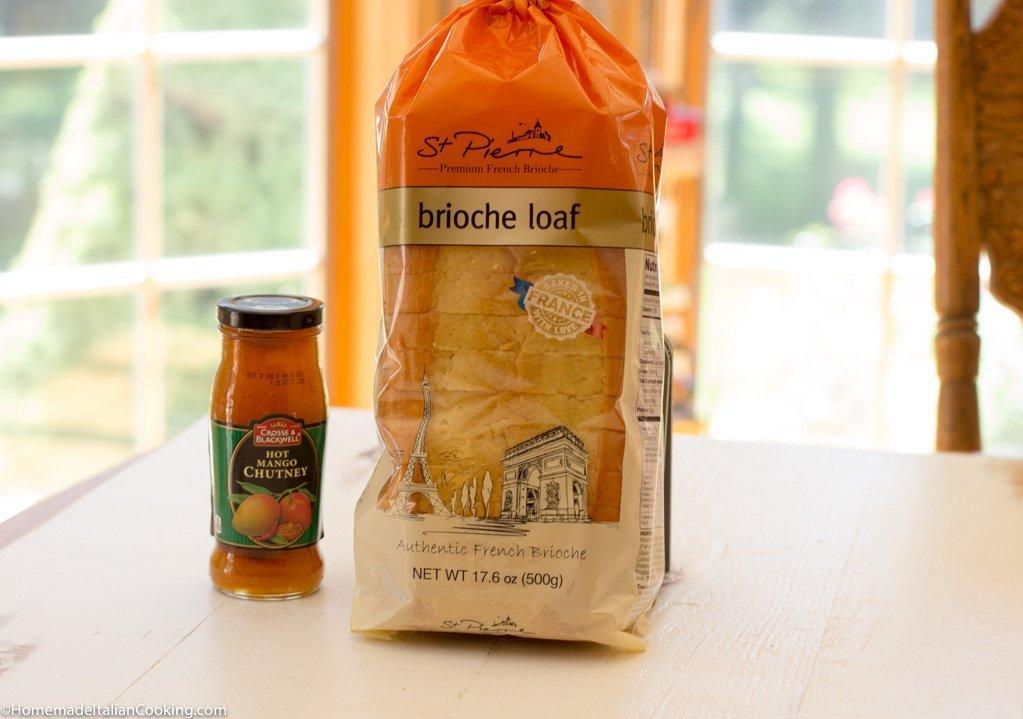 Finger Sandwiches Mango Chutney Brioche Bread