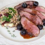 duck breast cherries and port wine sauce