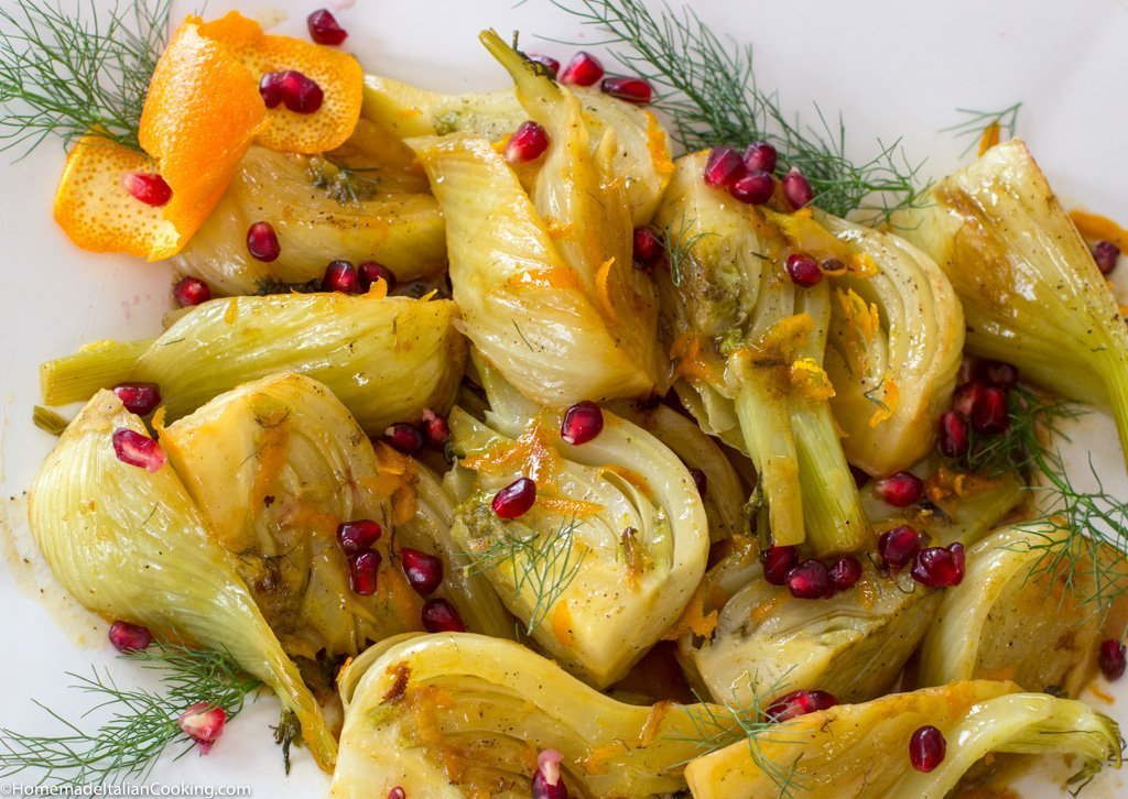 Braised Fennel in Orange Sauce with Pomegranate Seeds ...