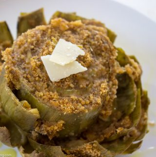 Sicilian Stuffed Artichokes with Parmesan and Garlic á la Florence Cipolla