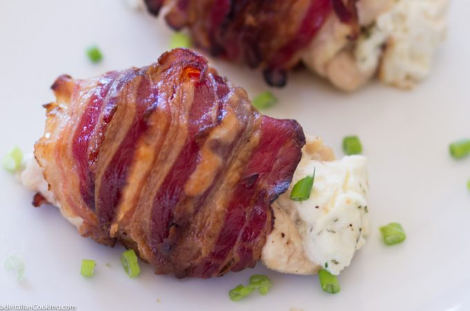 Chicken Wrapped Bacon Stuffed with Cream Cheese