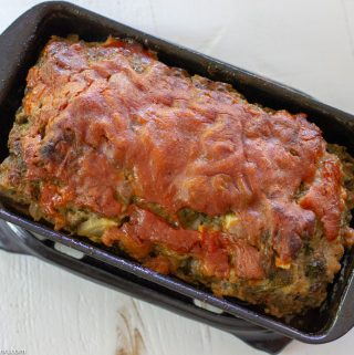 Kicked Up Meatloaf with Juicer Vegetable Pulp