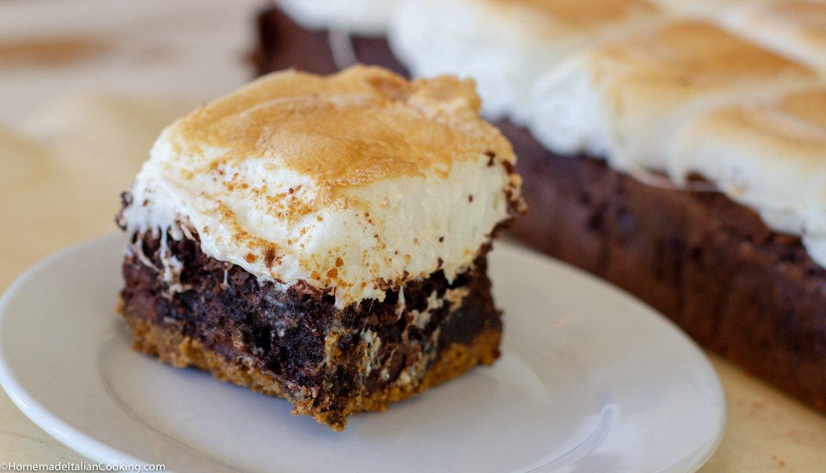 Jumbo S'Mores Brownie Bars