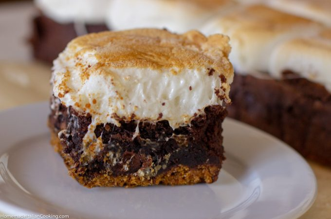 Jumbo S'mores Brownie Bars