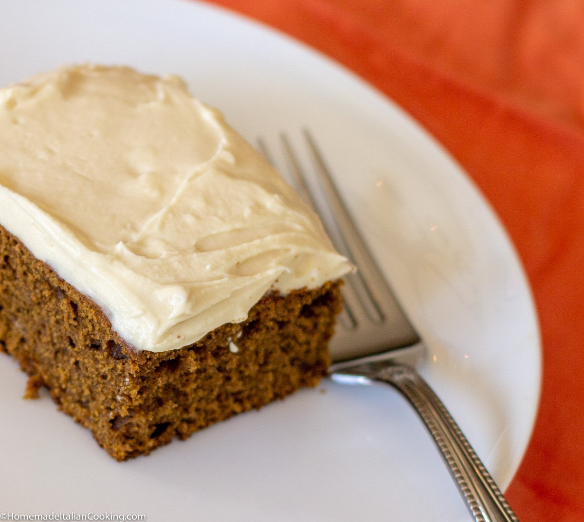 Gingerbread Pumpkin Cake with Cream Cheese Maple Frosting