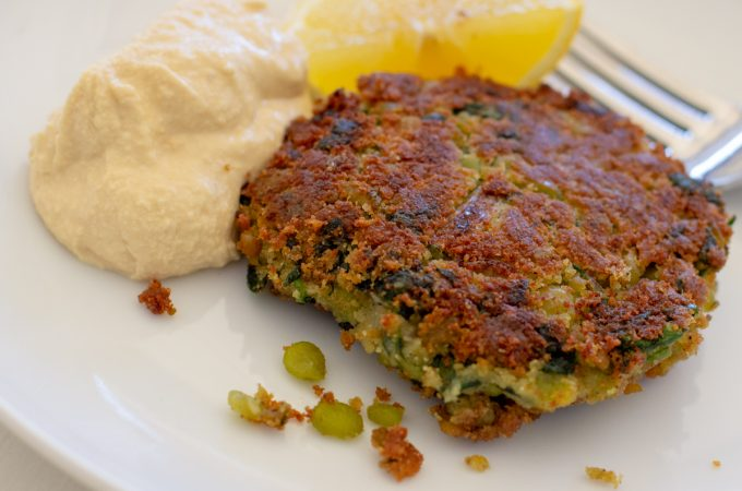 Green Split Pea, Potato and Spinach Patties