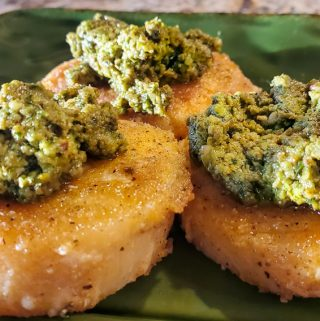 Fried Polenta & Pesto