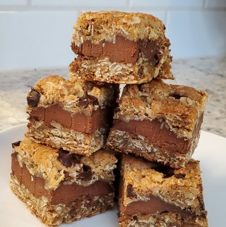 oatmeal dark chocolate fudge bars