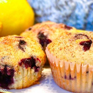 lemon & blueberry muffins