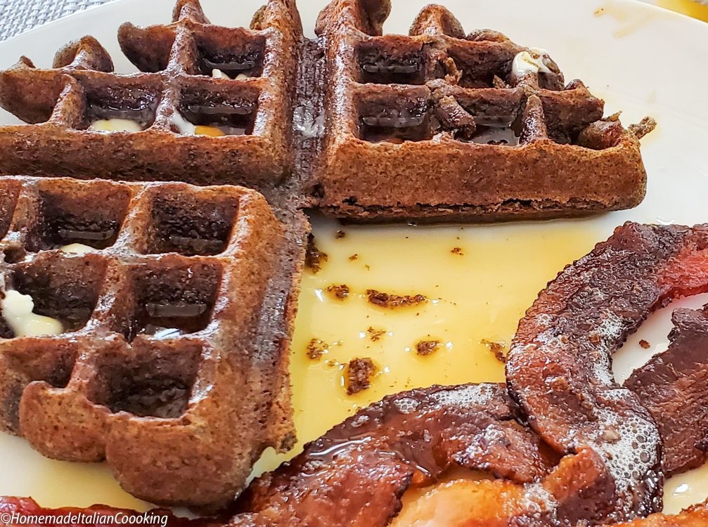 Buckwheat Gingerbread Waffles